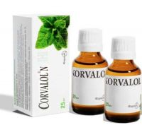 2 bottles of 25 ml Corvalol Farmak Drops, Free Shipping